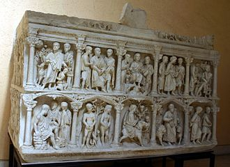 Sarcophagus of Junius Bassus - Plaster cast of the Sarcophagus of Junius Bassus