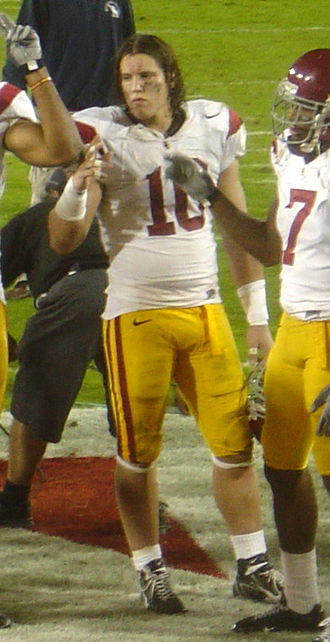 Brian Cushing - Cushing celebrating a 2006 victory over Stanford.