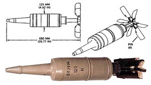 125 mm smoothbore ammunition - A 3BK29 HEAT round