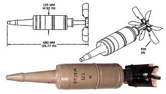 High-explosive anti-tank warhead - A Russian 3BK29 HEAT round