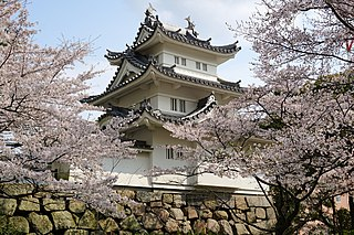 Japanese castle in Tsu, Mie prefecture
