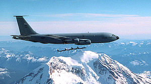 141st Air Refueling Wing - 141st Air Refueling Wing KC-135 Stratotanker over Mount Rainier