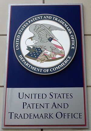 United States Patent and Trademark Office - Signboard of US Patent Office Sign Alexandria