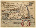 1579 map of the Croatian Coastline, centered on Zadar by Johannes Matalius Metellus.jpg