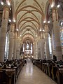 16m high nave, Saint Elisabeth Church, 2016 Budapest.jpg
