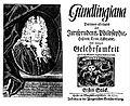 1715 Nicolaus Hieronymus Gundling, Gundlingiana, Nr. 1.jpg