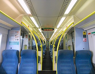 British Rail Class 171 - Image: 171803 Standard Class Interior