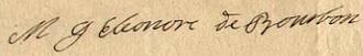 Marie Anne Éléonore de Bourbon - Image: 1732 signature of Marie Gabrielle Éléonore de Bourbon (cropped)