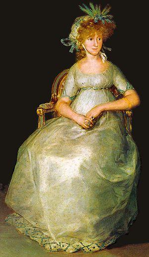 María Teresa de Borbón, 15th Countess of Chinchón - Portrait by Goya