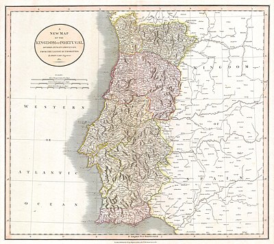 1811 Cary Map of the Kingdom of Portugal - Geographicus - Portugal-cary-1811.jpg