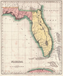expandable map of spanish west florida and east florida 1810 1821