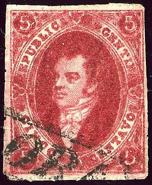 Bernardino Rivadavia - Rivadavia is portrayed on Argentina stamps since 1864.