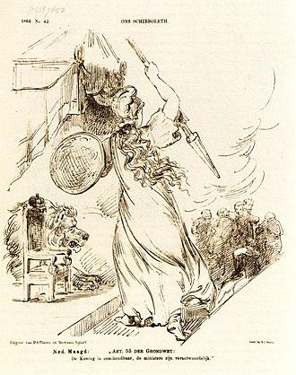 Dutch Maiden - Image: 1866spotprentart 53