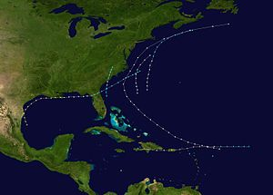 1867 Atlantic hurricane season - Image: 1867 Atlantic hurricane season summary