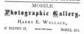 1882 Harry E Wallace photographer advert Mobile Alabama.png