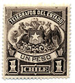 1883 1p telegraph stamp of Chile.jpg