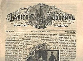 Louisa Knapp Curtis - Early copy of Ladies Home Journal, founded by Louisa Knapp Curtis - March 1886