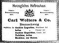 1894 Werbeanzeige Herzogliches Hofbrauhaus Carl Wolters & Co. Braunschweig.jpg