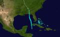 1906 Atlantic tropical storm 1 track.png