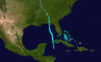 1906 Atlantic hurricane season - Image: 1906 Atlantic tropical storm 1 track