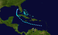 1933 Atlantic tropical storm 7 track.png