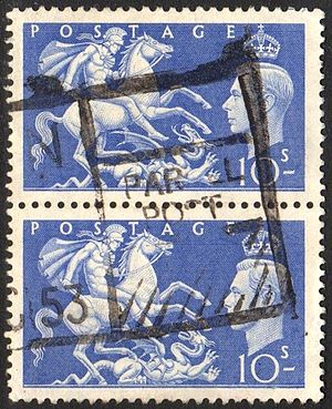 Parcel post - British high value stamps used for parcel post in 1953.