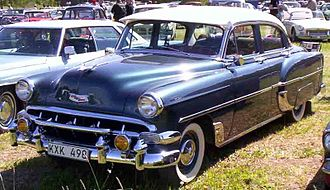 Chevrolet 210 - Image: 1954 Chevrolet 2103 4 Door Sedan