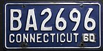 1960 Connecticut license plate.jpg