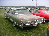 1968 imperial crown coupe rear