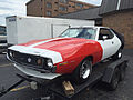1971 AMC Javelin AMX in tri-color red-white-blue racing paint at 2015 AMO meet 2of3.jpg