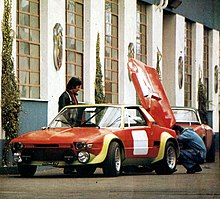 1974 abarth x1-9 prototipo in setup on the fiat's abarth competitions  centre in turin