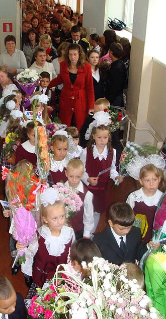 Knowledge Day - A typical knowledge day in Russia