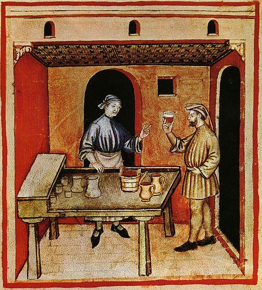 20-alimenti, vino rosso,Taccuino Sanitatis, Casanatense 4182