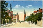 20022-Hainichen-1916-Wettinstraße mit Post und Kirche-Brück & Sohn Kunstverlag.jpg