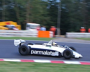 Historic Formula One Championship - Brabham BT49D driven by Christian Gläsel at a Thoroughbred Grand Prix race at Brands Hatch in September 2005.