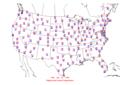 2006-07-18 Max-min Temperature Map NOAA.png