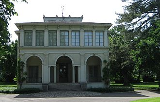 Neue Welt - Villa Ehinger (now the Music School), the Front Side and the Main Entrance