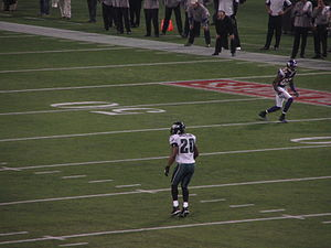 Bernard Berrian - Berrian (top right, 87) and Brian Dawkins in January, 2009.