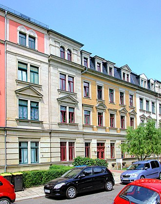 Building - A block of tenements (apartments) in Dresden (Germany)
