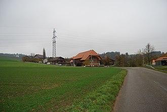 Deisswil bei Münchenbuchsee - Farm houses and fields in Diesswil