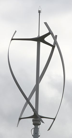 Gorlov helical turbine - quietrevolution QR5 wind turbine