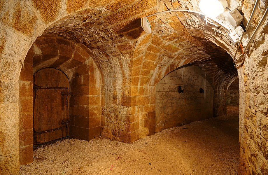 This file was uploaded  with Commonist.         This photograph was taken with a Nikon D300.    Fort du Cognelot: dans le coffre double d'escarpe (HDR).