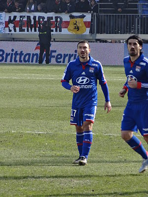 Steed Malbranque - Steed Malbranque playing for Olympique Lyonnais in 2013.