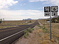 2014-07-17 11 15 08 View west along U.S. Route 6 at the junction with Nevada State Route 375 about 51.1 miles east of the Esmeralda County Line in Warm Springs, Nevada.JPG