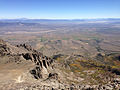 2014-09-24 12 32 15 View east from the cliffs on the northeast flank of Hole-in-the-Mountain Peak, Nevada.JPG
