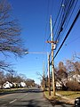 2014-12-26 12 21 16 Utility pole and a newer street light fixture attached to an older support along Parkway Avenue (Mercer County Route 634) in Ewing, New Jersey.JPG