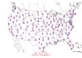 2015-10-09 Max-min Temperature Map NOAA.png