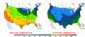 2016-04-07 Color Max-min Temperature Map NOAA.png