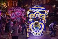 2016 Malakka, Kolorowe riksze rowerowe na Placu Holenderskim (02).jpg