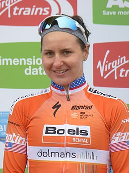 2018 Women's Tour de Yorkshire - Megan Guarnier (stage).jpg